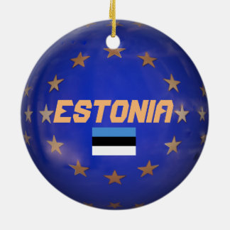 Ornement de l'Estonie E.U. Custom Christmas