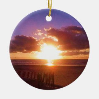 Ornement de lever de soleil de plage