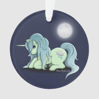 Ornement de licorne de clair de lune