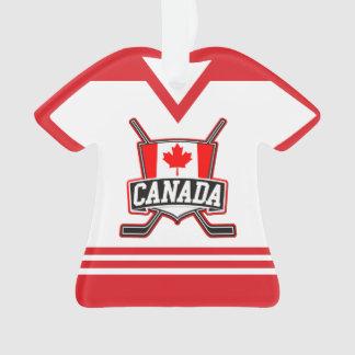 Ornement de logo du Jersey Canada de nom et de