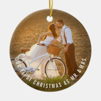 Ornement de M. et de Mme First Christmas Wedding