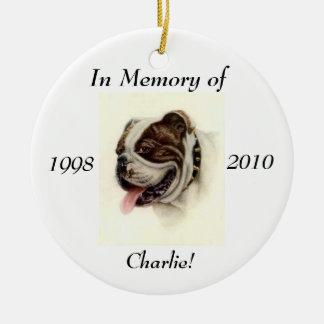 Ornement de mémoire pour votre animal familier