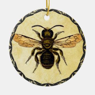 Ornement de Monogramed avec l'abeille vintage