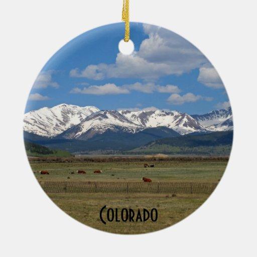 Ornement de montagnes rocheuses du Colorado