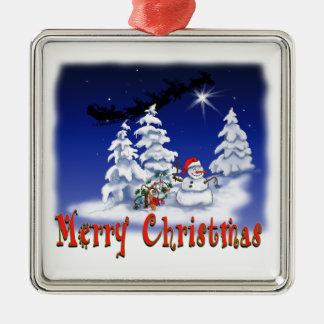 Ornement de Noël avec le bonhomme de neige