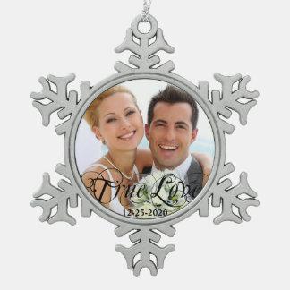 Ornement de Noël d'amour d'anniversaire de mariage