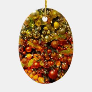 Ornement de Noël d'arbre d'agrume d'O de la