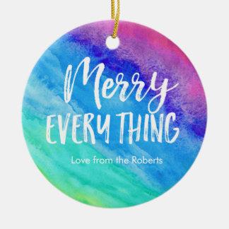 Ornement de Noël d'arc-en-ciel avec la photo