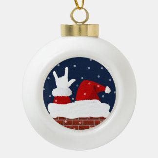 Ornement de Noël d'ASL Père Noël avec je t'aime