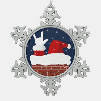 Ornement de Noël d'ASL Père Noël je t'aime ILY