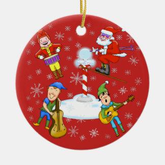 Ornement de Noël de bande de Noël d'elfes de