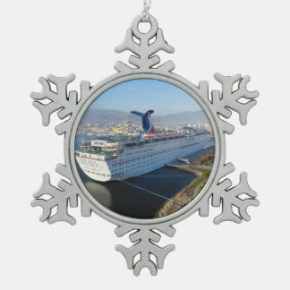 Ornement de Noël de bateau de croisière