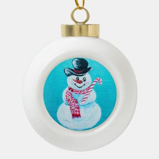 Ornement de Noël de bonhomme de neige