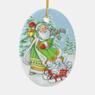"""Ornement de Noël """"de bruit joyeux"""" de Westie par"""