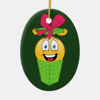 Ornement de Noël de cadeau d'Emoji