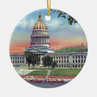 Ornement de Noël de capitol d'état de la Virginie