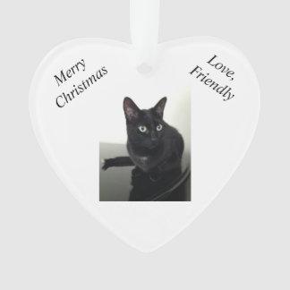 Ornement de Noël de chat noir