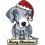 Ornement de Noël de chien de léopard de Catahoula  Photo Sculpture