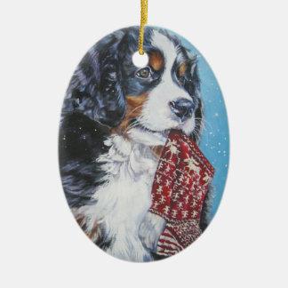 Ornement de Noël de chien de montagne de Bernese