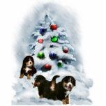 Ornement de Noël de chien de montagne de Bernese Photo En Relief
