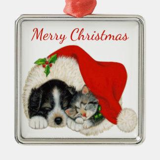 Ornement de Noël de chiot et de chaton