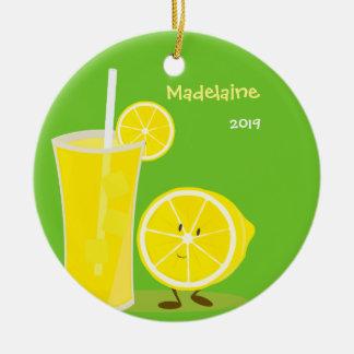 Ornement de Noël de citron et de limonade  