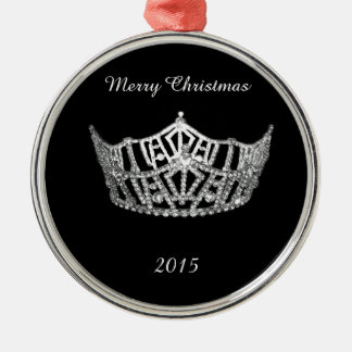 Ornement de Noël de couronne d'argent de style de