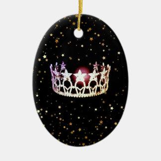 Ornement de Noël de couronne d'argent d'état de la