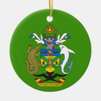 Ornement de Noël de crête d'îles Salomon