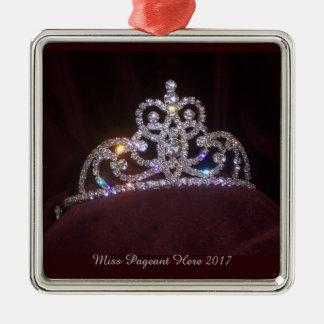 Ornement de Noël de diadème de princesse de Mlle