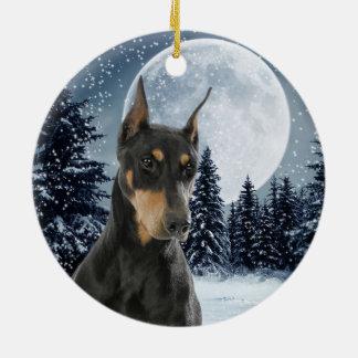 Ornement de Noël de dobermann