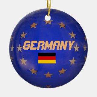 Ornement de Noël de drapeau d'Union européenne de