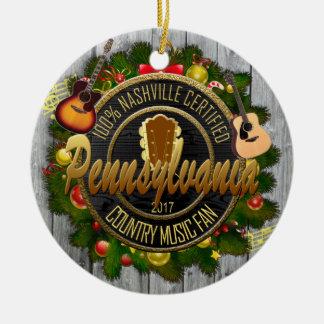 Ornement de Noël de fan de musique country de la