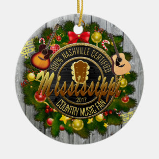 Ornement de Noël de fan de musique country du