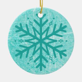 Ornement de Noël de flocon de neige de myasthénie