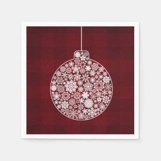 Ornement de Noël de flocon de neige Serviettes En Papier