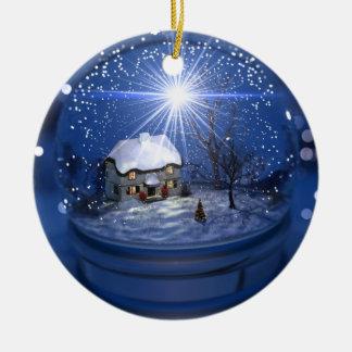 Ornement de Noël de globe de Starlight
