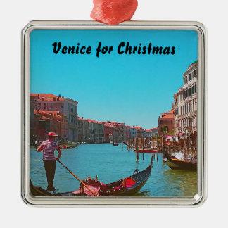 Ornement de Noël de gondole de Venise