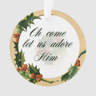 Ornement de Noël de houx