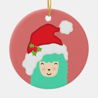Ornement de Noël de lama de vacances