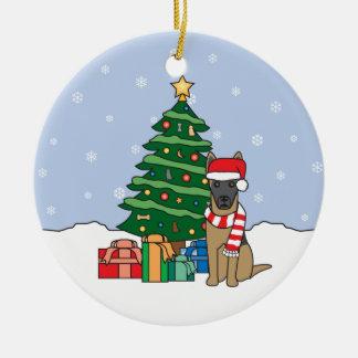 Ornement de Noël de Malinois de Belge