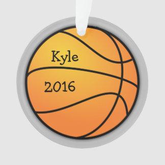 Ornement de Noël de modèle photo de basket-ball