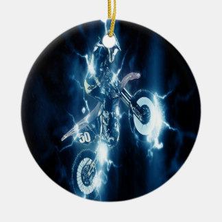 Ornement de Noël de motocross