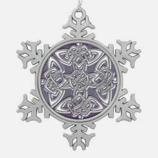 Ornement de Noël de noeud de Dara de Celtic