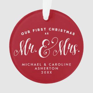 Ornement de Noël de nouveaux mariés