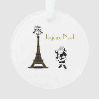 Ornement de Noël de Paris de Tour Eiffel de Joyeux
