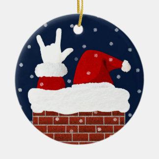 Ornement de Noël de Père Noël avec je t'aime