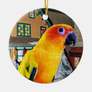 Ornement de Noël de perroquet de Sun Conure