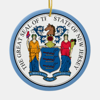 Ornement de Noël de phoque d'état de New Jersey
