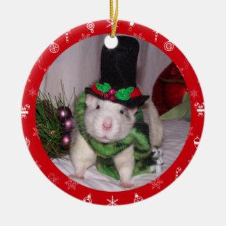 Ornement de Noël de rat